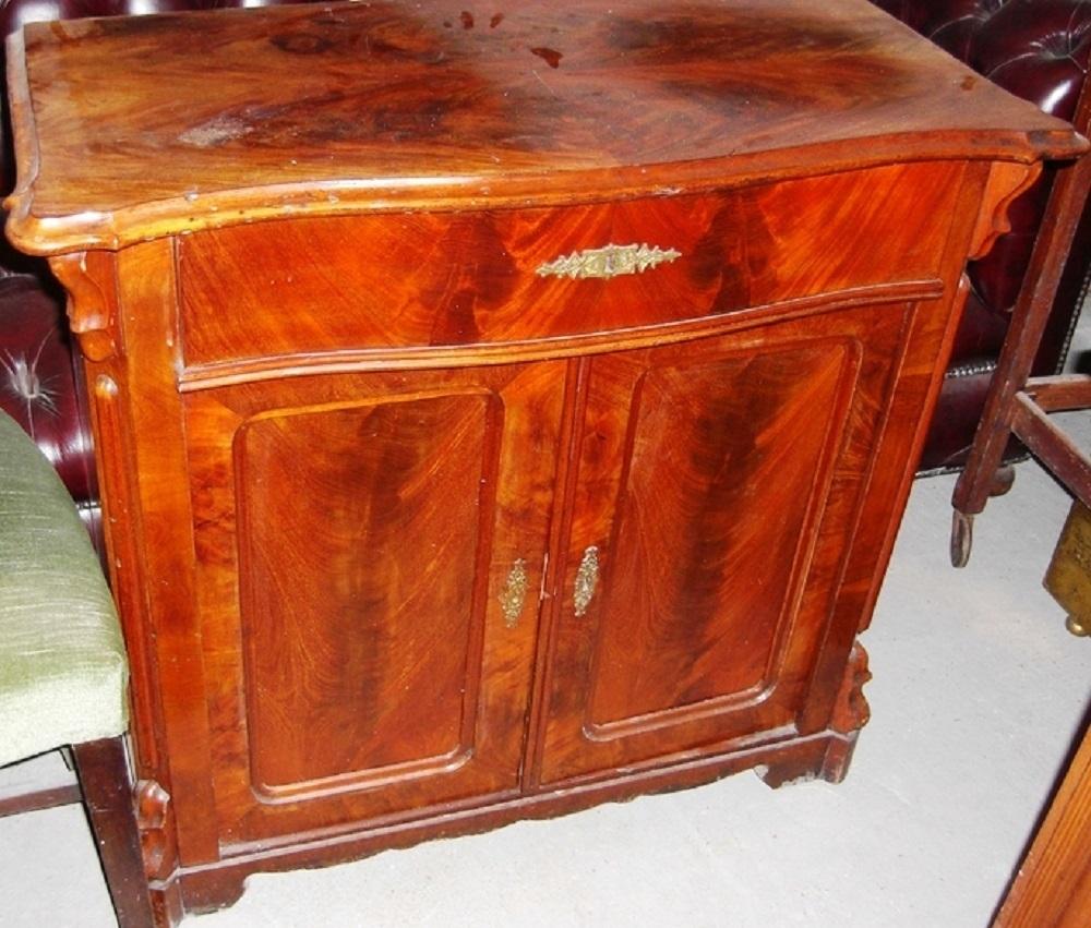 kleines gr nderzeit sideboard mahagoni flammenfurniert antik m bel antiquit ten alling bei. Black Bedroom Furniture Sets. Home Design Ideas
