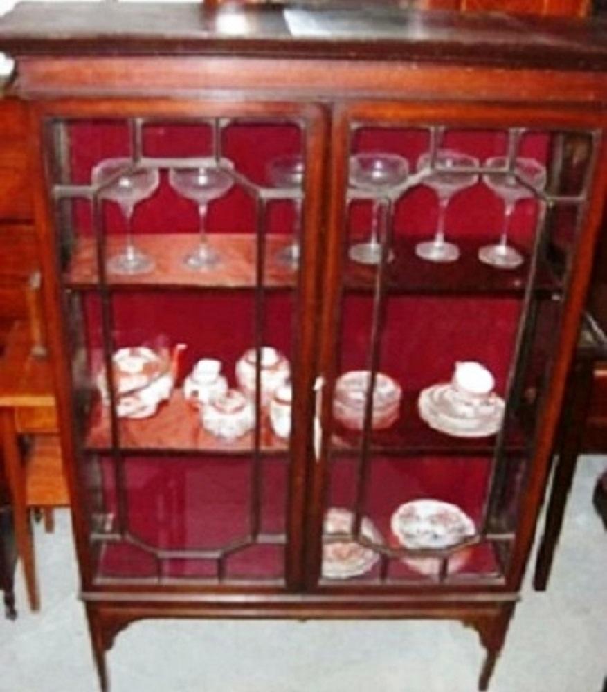 englische jugendstilvitrine edwardian vitrine um 1900 antik m bel antiquit ten alling bei. Black Bedroom Furniture Sets. Home Design Ideas