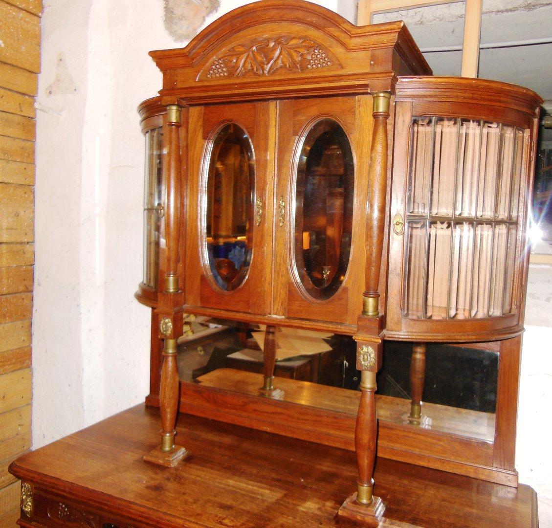 eichenb ffett massiv eiche gr nderzeit jugendstil um 1900 antik m bel antiquit ten alling bei. Black Bedroom Furniture Sets. Home Design Ideas