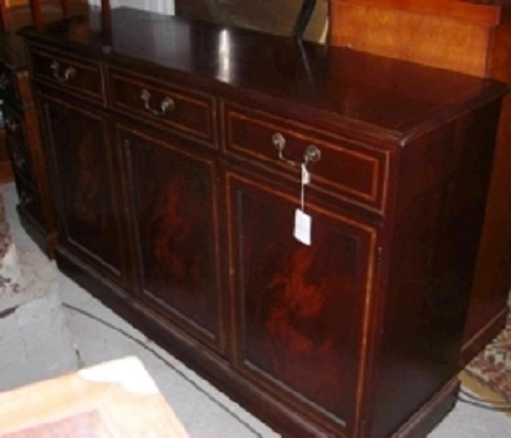 englisches mahagoni sideboard edwardian style mit intarsien antik m bel antiquit ten alling. Black Bedroom Furniture Sets. Home Design Ideas