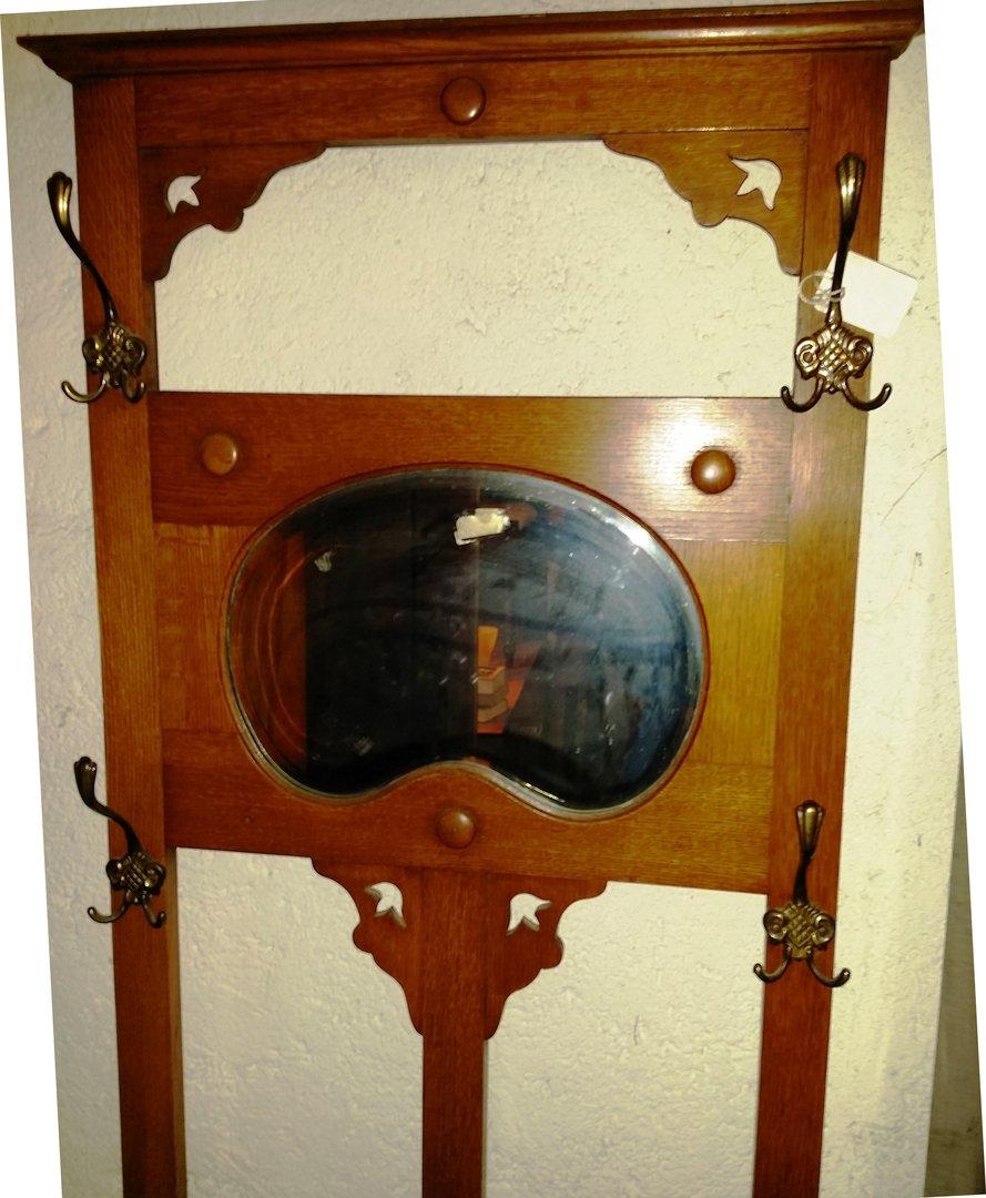 Eichen garderobe jugendstil mit spiegel antik m bel for Garderobe jugendstil