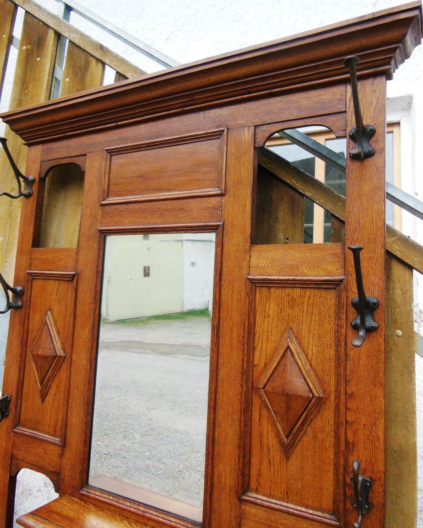 garderobe eiche victorian englische eichengarderobe um 1890 antik m bel antiquit ten alling. Black Bedroom Furniture Sets. Home Design Ideas