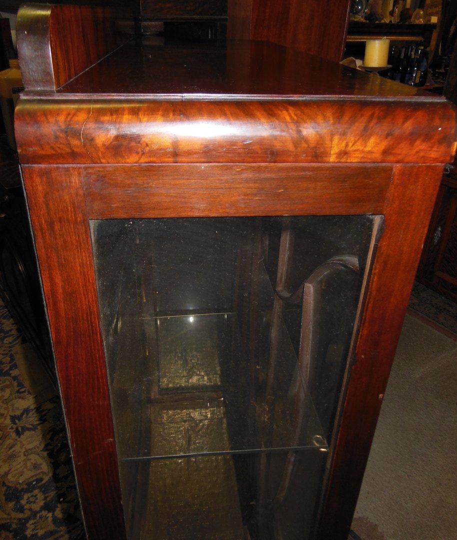 englische art deco vitrine nussbaum um 1920 antik m bel antiquit ten alling bei m nchen. Black Bedroom Furniture Sets. Home Design Ideas
