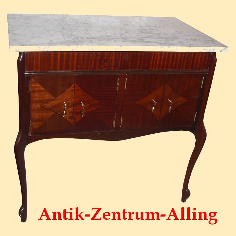 mahagoni sideboard anrichte waschtisch mit marmorplatte um 1910 antik m bel antiquit ten. Black Bedroom Furniture Sets. Home Design Ideas