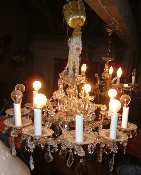 Lüster kristall lüster venezianisch um 1920 antik möbel antiquitäten