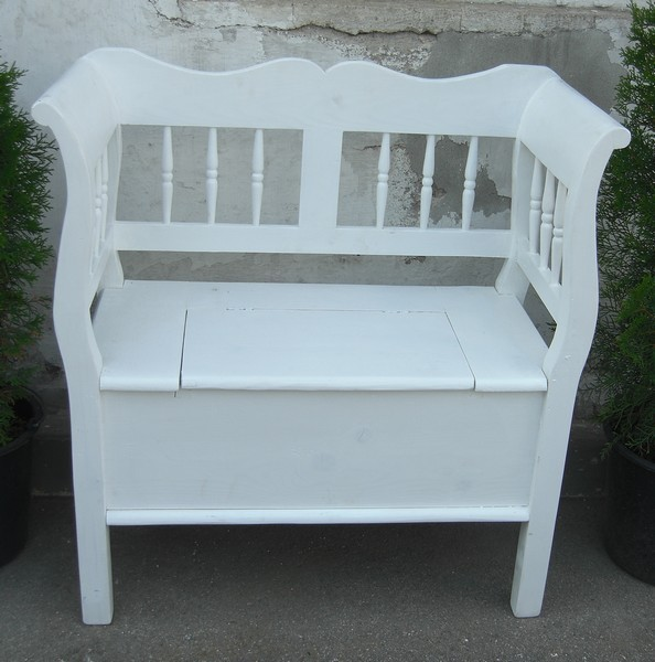 shabby chic bauernbank gartenbank sitzbank fichte weiss. Black Bedroom Furniture Sets. Home Design Ideas