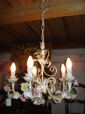 italienische rosenlampe 5 flammig antik m bel antiquit ten alling bei m nchen zwischen m nchen. Black Bedroom Furniture Sets. Home Design Ideas
