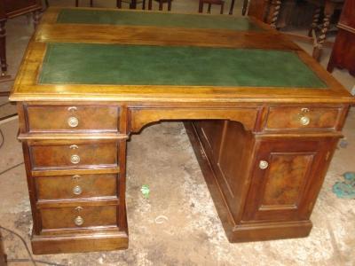 partner schreibtisch englisch um 1890 1900 massiv mahagoni antik m bel antiquit ten alling bei. Black Bedroom Furniture Sets. Home Design Ideas