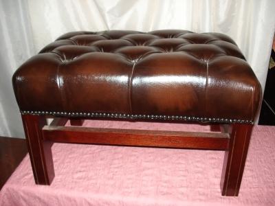 englischer fusshocker braunes leder antik m bel antiquit ten alling bei m nchen zwischen. Black Bedroom Furniture Sets. Home Design Ideas