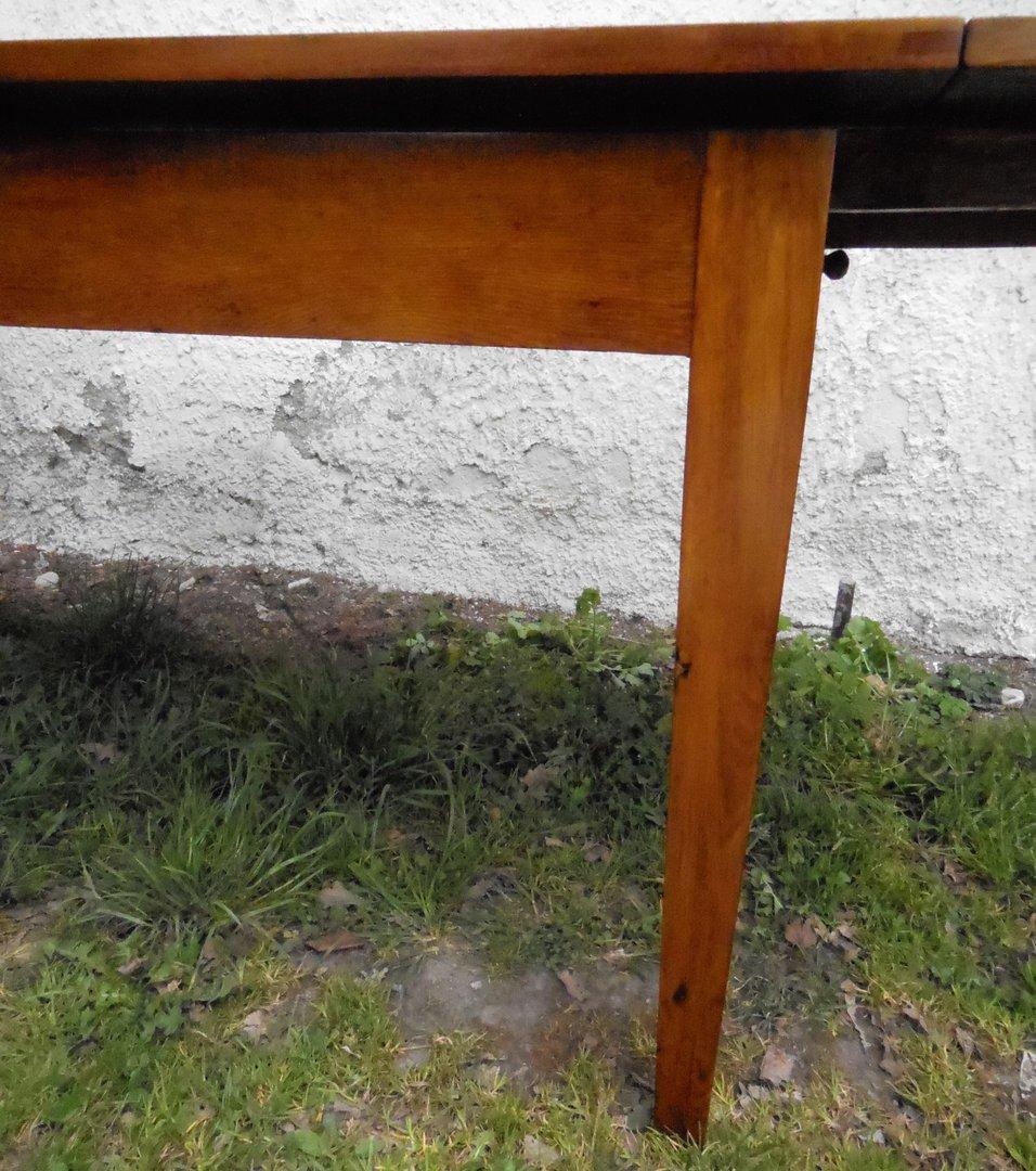 Esstisch Eiche Hell Antik : Esstisch Eiche hell mit NussbaumIntarsien und Sternintarsie  Antik