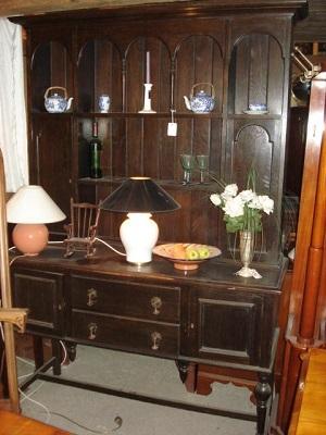 Eichen Dresser Jugendstil Tellerboard Kuchenschrank Buffet Um 1900