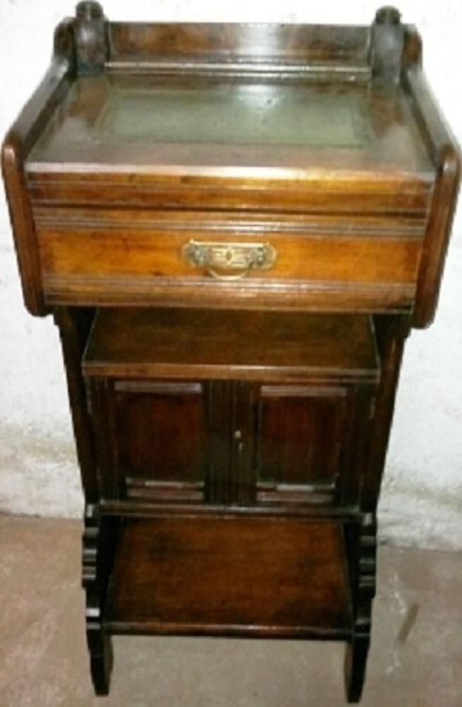 Englisches Victorian Telefonschränkchen Um 1890 Antike Möbel Und