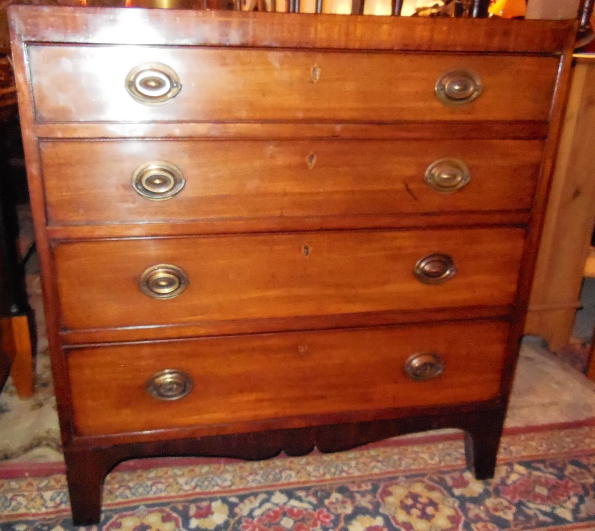 englische georgian mahagoni kommode um 1820 antik m bel antiquit ten alling bei m nchen. Black Bedroom Furniture Sets. Home Design Ideas