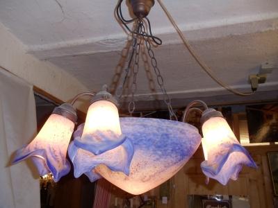 Französische Art Jugendstil Lampe Mit Blauweissen Und Wahlweise