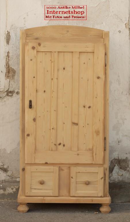 Alter Antiker Küchenschrank schmaler Schrank aus Fichte - Antik ... | {Küchenschrank schmal 57}