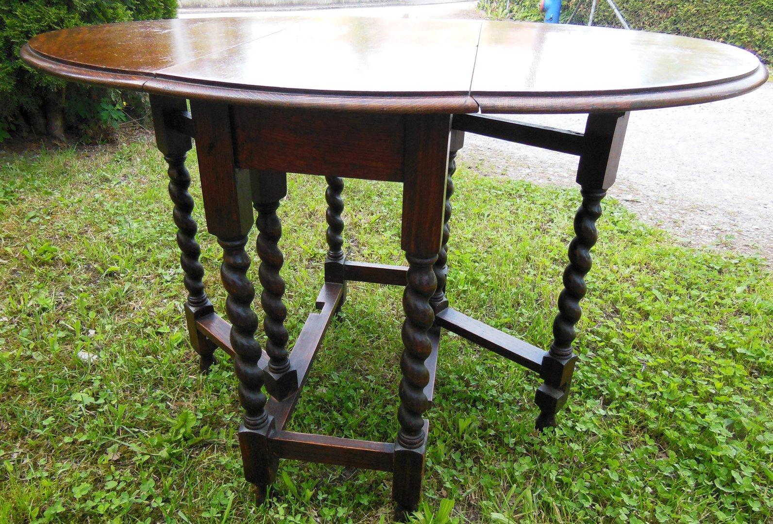 englischer eichen gatelegg tisch eichentisch um 1910 antik m bel antiquit ten alling bei. Black Bedroom Furniture Sets. Home Design Ideas