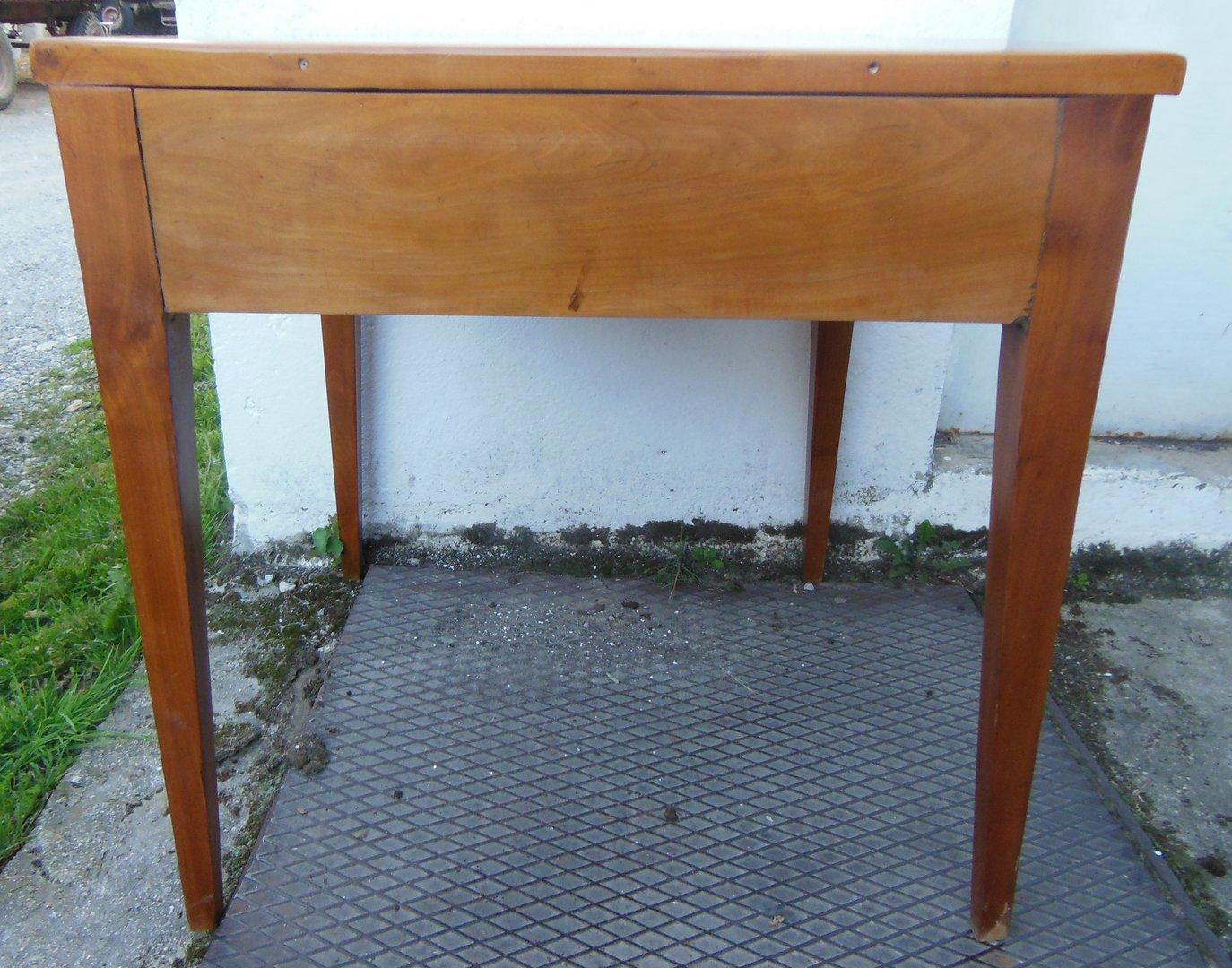 biedermeiertisch biedermeier schreibtisch kirschholz massiv um 1840 50 antik m bel. Black Bedroom Furniture Sets. Home Design Ideas