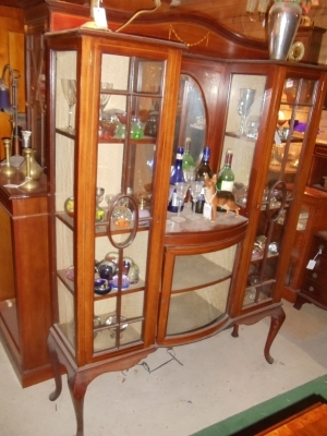 alte englische edwardian vitrine mahagoni massiv um 1900 antik m bel antiquit ten alling bei. Black Bedroom Furniture Sets. Home Design Ideas