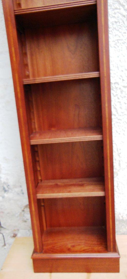 taschenbuch regal cd regal schmales regal mahagoni edwardian stil antik m bel antiquit ten. Black Bedroom Furniture Sets. Home Design Ideas