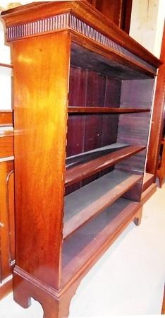 englisches jugendstil regal massiv nussbaum um 1900. Black Bedroom Furniture Sets. Home Design Ideas