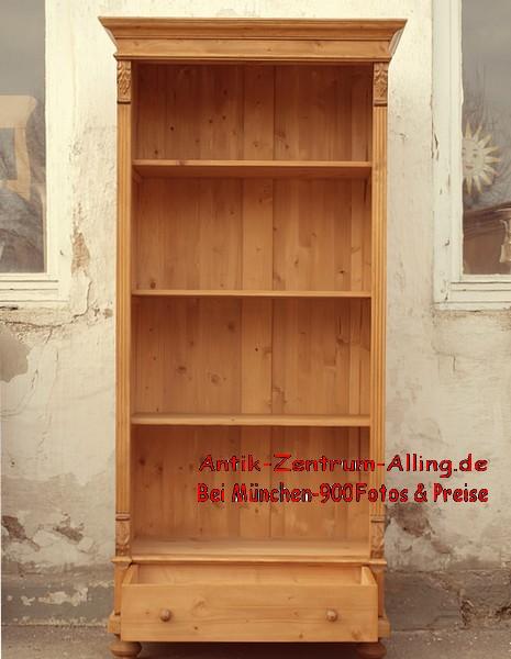 0 rre8632 86 cm langes regal gr nderzeit bauernregal fichtenregal b cherregal massivholz nicht. Black Bedroom Furniture Sets. Home Design Ideas