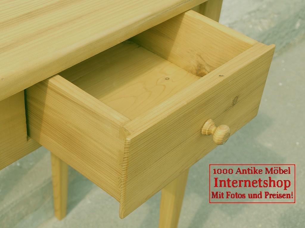 kleiner tisch mit schublade antik schrank fichte. Black Bedroom Furniture Sets. Home Design Ideas