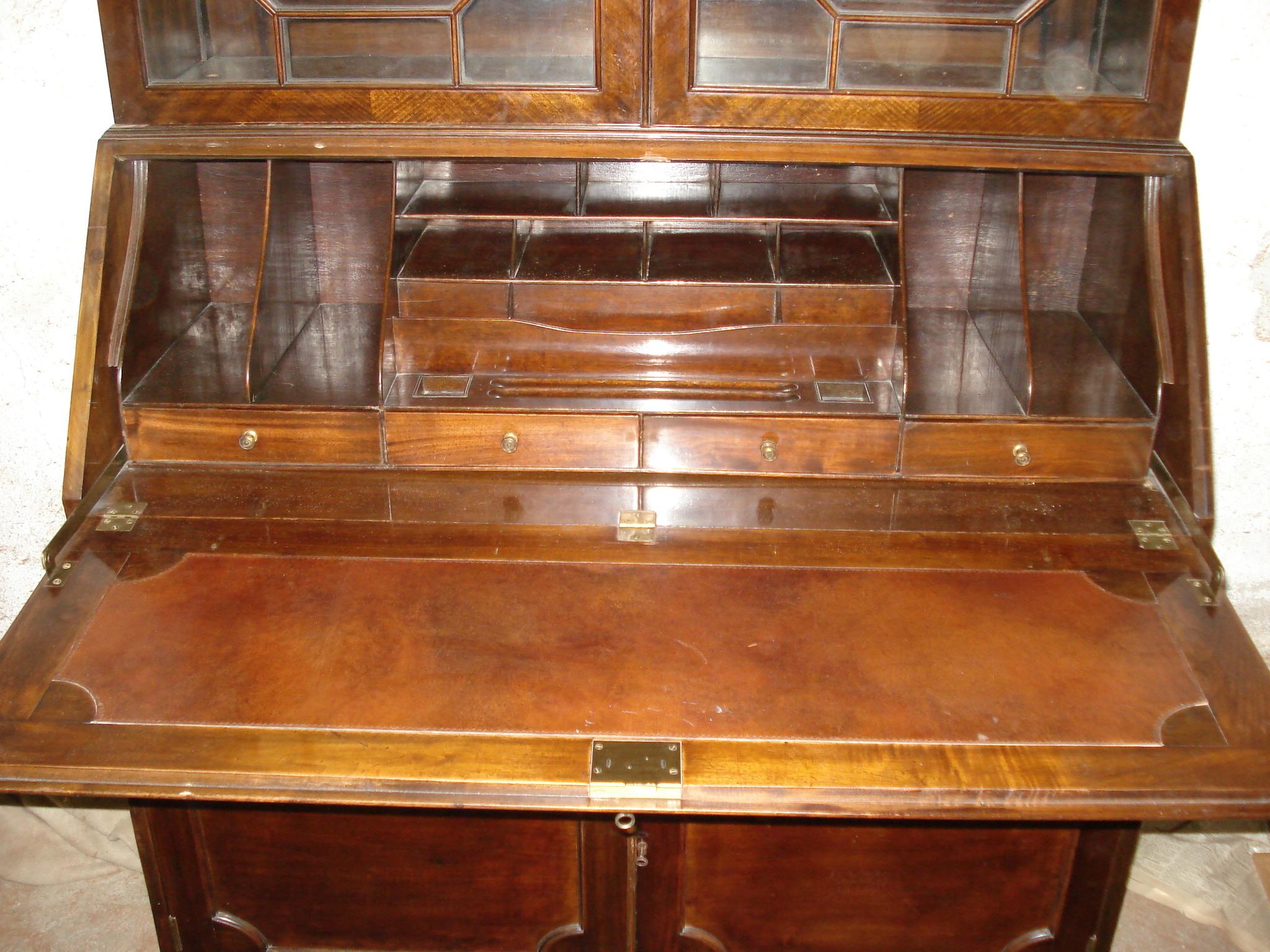 alter englischer mahagoni jugendstil aufsatzsekret r. Black Bedroom Furniture Sets. Home Design Ideas