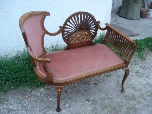 alte antike englische mahagoni bank edwardian antik m bel antiquit ten alling bei m nchen. Black Bedroom Furniture Sets. Home Design Ideas