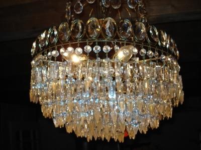 kristallglas lampe 20er jahre antik m bel antiquit ten. Black Bedroom Furniture Sets. Home Design Ideas
