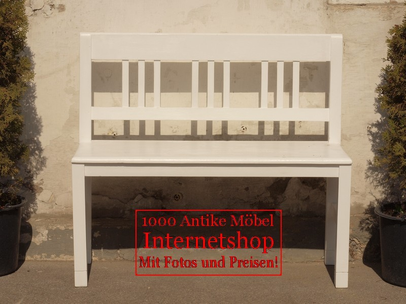 100 cm gartenbank bauernbank fichtenbank shabby chick sitzbank holzbank 100cm antik m bel. Black Bedroom Furniture Sets. Home Design Ideas
