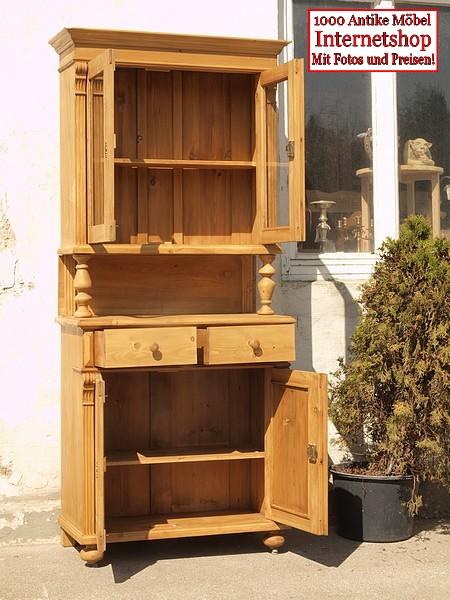 Küchenbüfett Weichholz Fichte Geschirrschrank Küchenschrank - Antik ...
