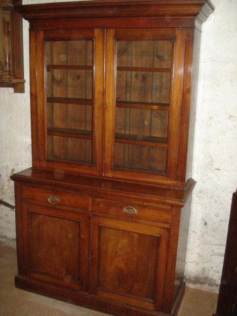 orginale englische victorianische aufsatzvitrine bookcase nu baum massiv um 1860 70 antik. Black Bedroom Furniture Sets. Home Design Ideas