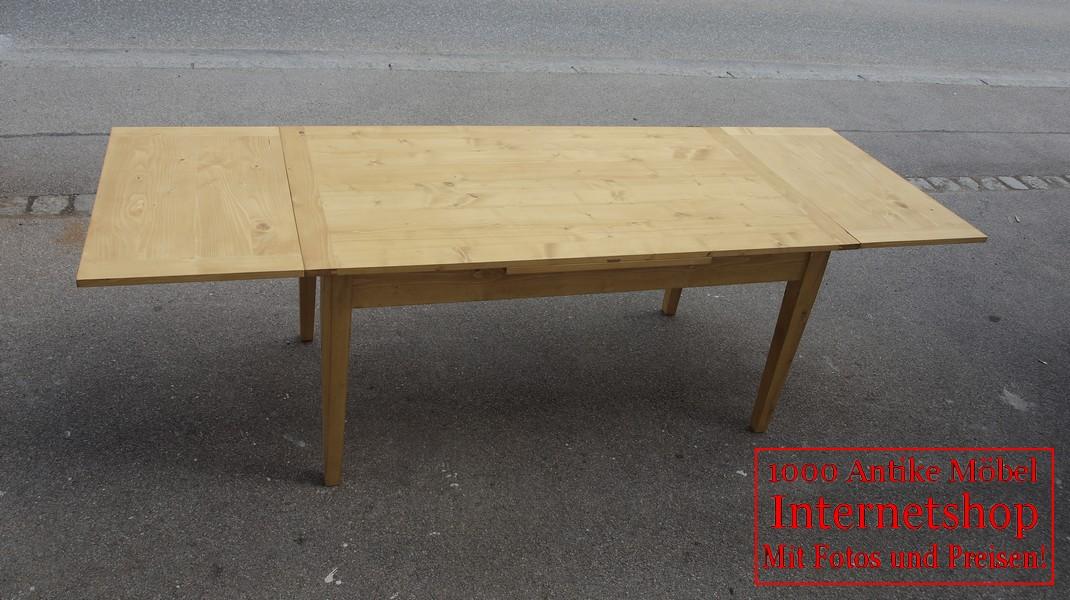 Ausziehtisch massiver Fichten Tisch Auszugstisch ausziehbar Bauerntisch - Antik Möbel ...