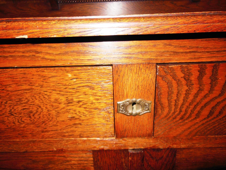massives eichenb ffet buffet eiche jugendstil um 1900 antik m bel antiquit ten alling bei. Black Bedroom Furniture Sets. Home Design Ideas