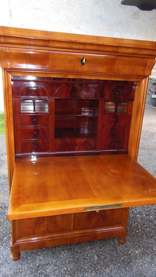 biedermeier nu baum sekret r um 1840 antik m bel antiquit ten alling bei m nchen zwischen. Black Bedroom Furniture Sets. Home Design Ideas