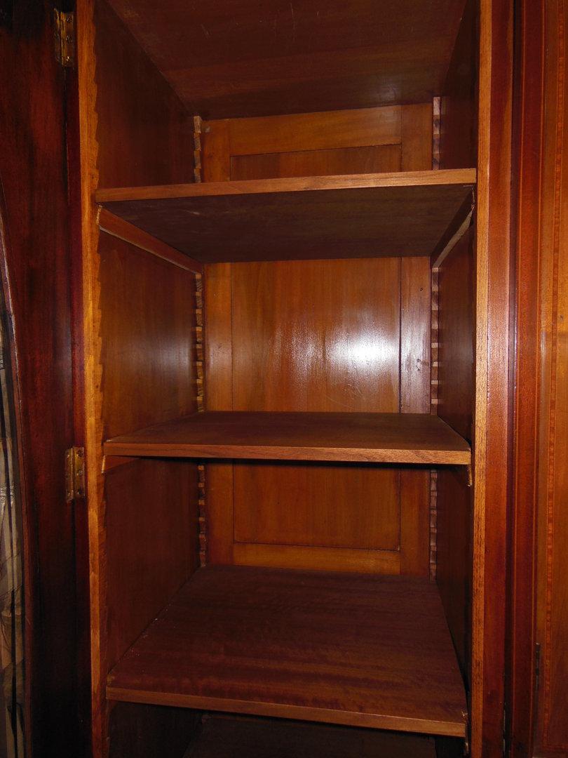kompaktschrank jugendstil vitrinenschrank mahagoni wurzelholz um 1900 antik m bel antiquit ten. Black Bedroom Furniture Sets. Home Design Ideas