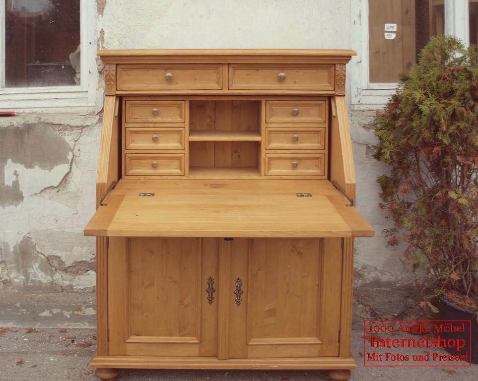 sekret r bauernm bel fichte gr nderzeitstil antik m bel. Black Bedroom Furniture Sets. Home Design Ideas