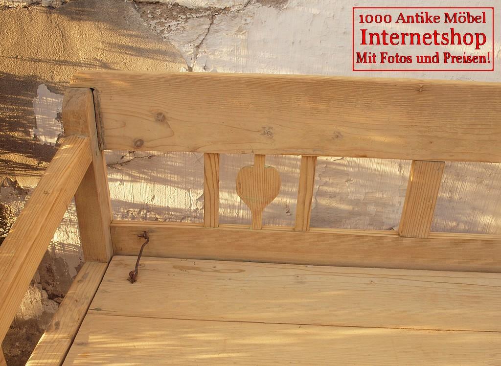 alte antike restaurierte truhenbank weichholz sitzbank. Black Bedroom Furniture Sets. Home Design Ideas