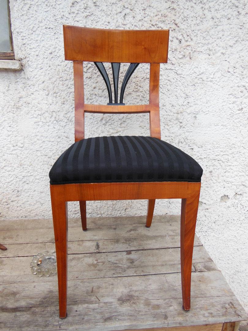 biedermeier art stuhlsatz kirschholz furniert sehr sch n antik m bel antiquit ten alling bei. Black Bedroom Furniture Sets. Home Design Ideas