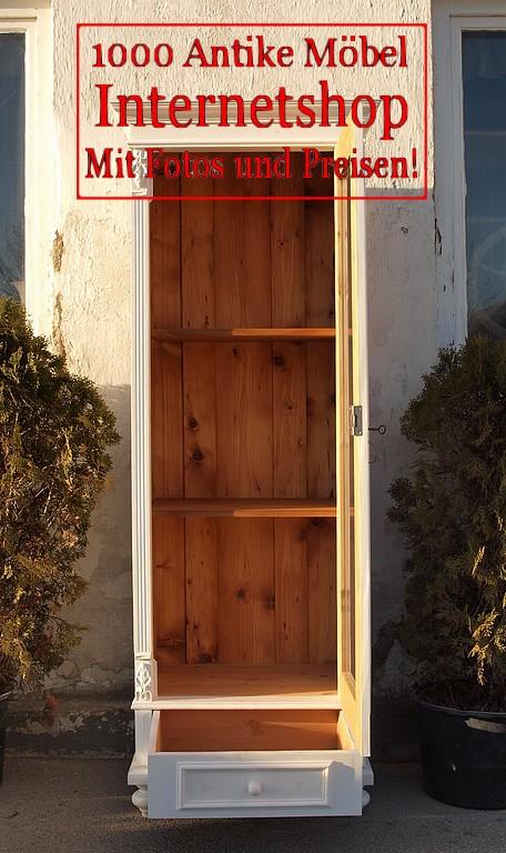 alte antike shabby chic vitrine weiss antik m bel antiquit ten alling bei m nchen zwischen. Black Bedroom Furniture Sets. Home Design Ideas