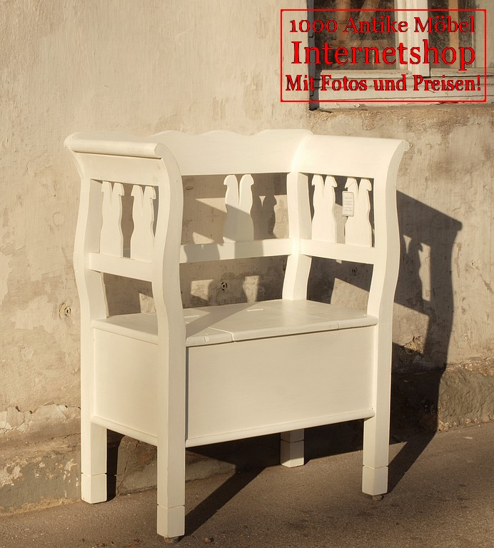 80 cm shabby chic bauernbank bank massivholz fichte sitzbank wei antik m bel antiquit ten. Black Bedroom Furniture Sets. Home Design Ideas