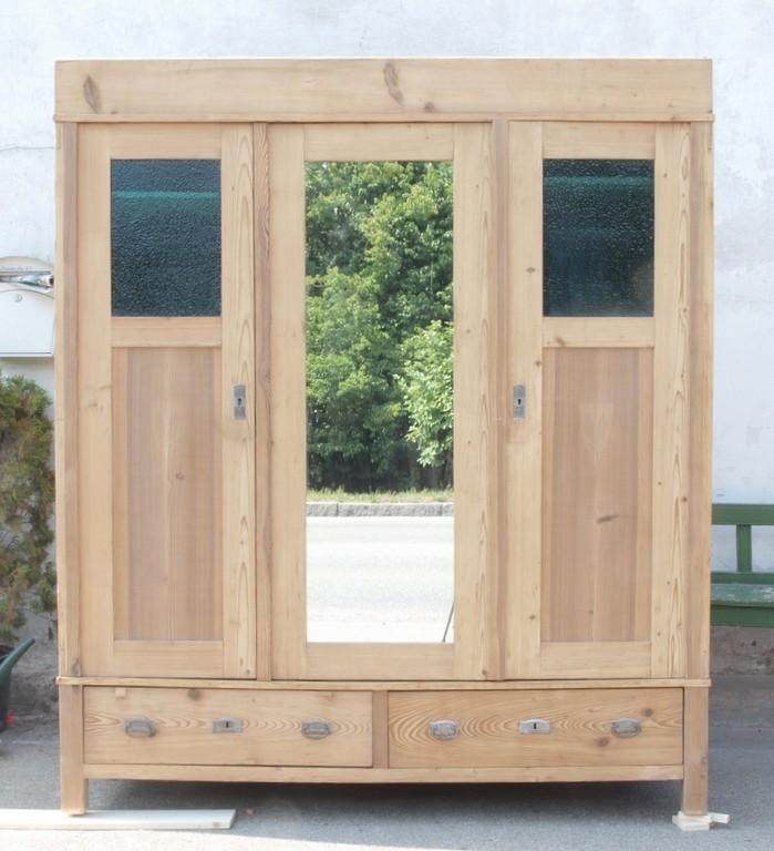 Alter antiker Bauernschrank 3 türig 3 Türen Schrank aus Massivholz ...
