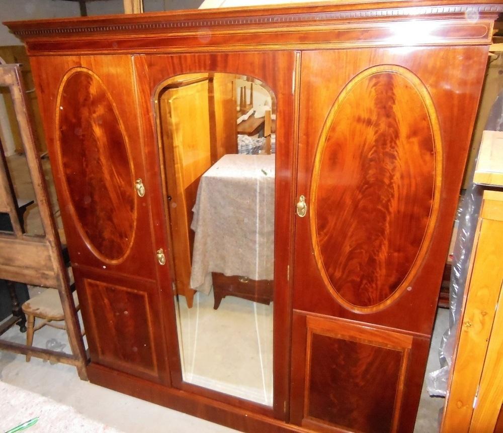 Victorian Mahagoni Kleiderschrank um 1890 intarsiert und restauriert   Antik Möbel Antiquitäten ...