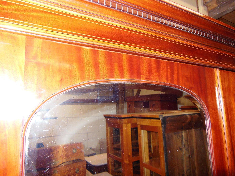 Victorian Mahagoni Kleiderschrank um 1890 intarsiert und ...