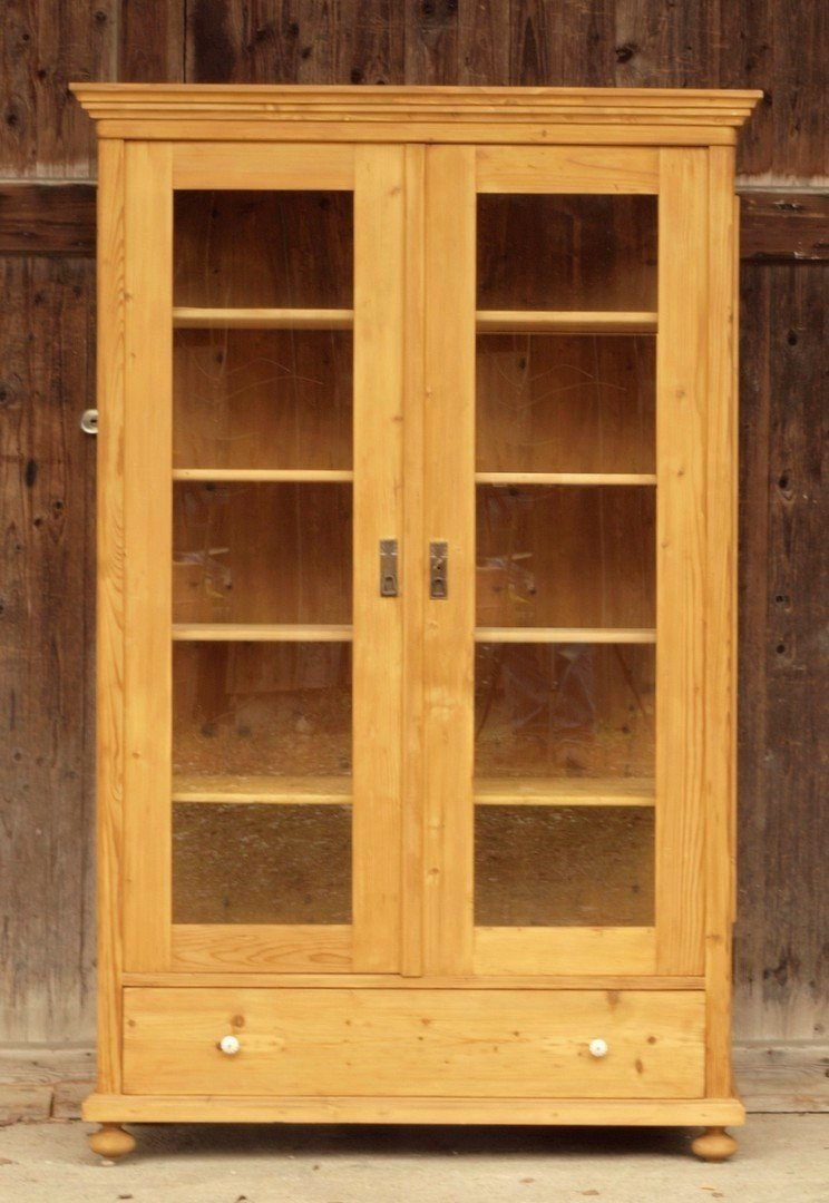 bauernvitrine vitrine weichholz fichte antik m bel. Black Bedroom Furniture Sets. Home Design Ideas