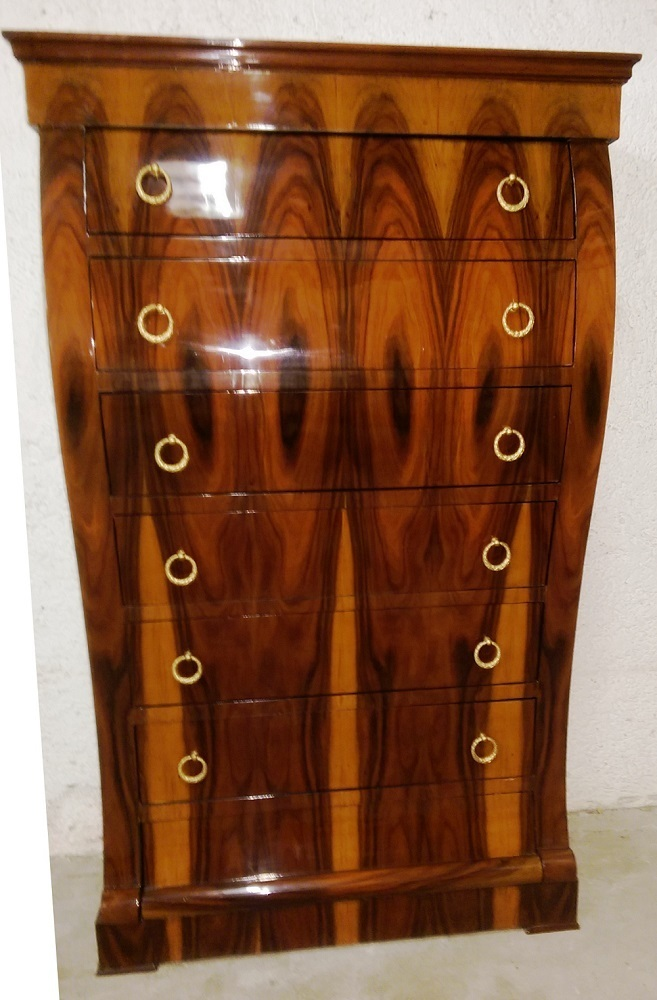 geschwungene art deco kommode nu baum wurzelfurniert antik m bel antiquit ten alling bei. Black Bedroom Furniture Sets. Home Design Ideas