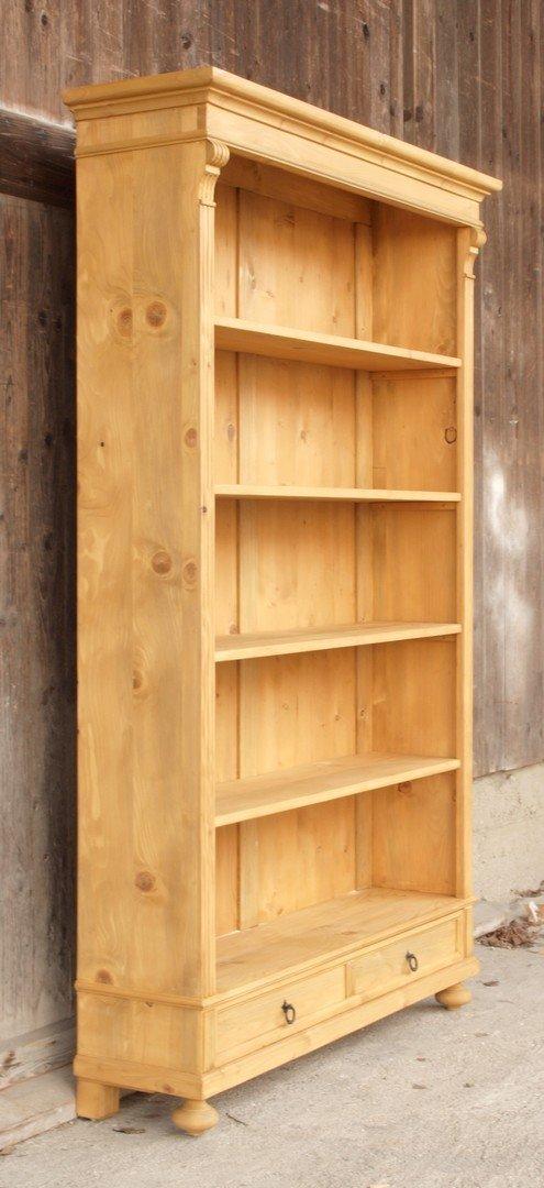 0 rre119 25s 119 cm langes b cherregal massivholzregal. Black Bedroom Furniture Sets. Home Design Ideas