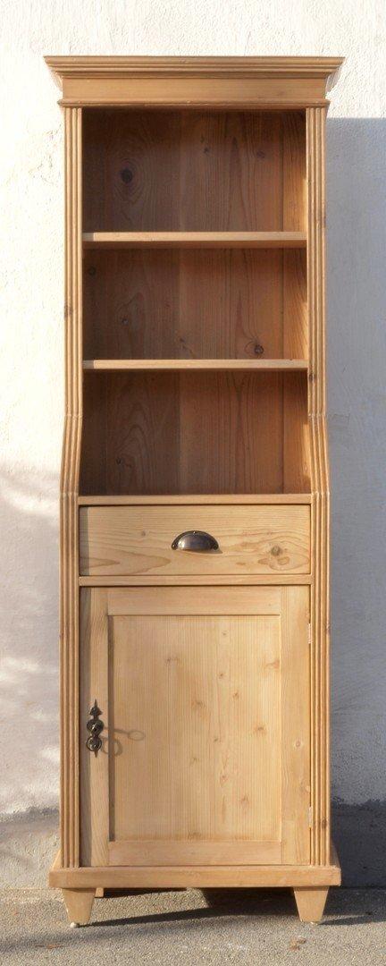 0 pre 64 cm langes bauernregal b cherregal mit schubladen t re nachbau aus altem holz antik. Black Bedroom Furniture Sets. Home Design Ideas