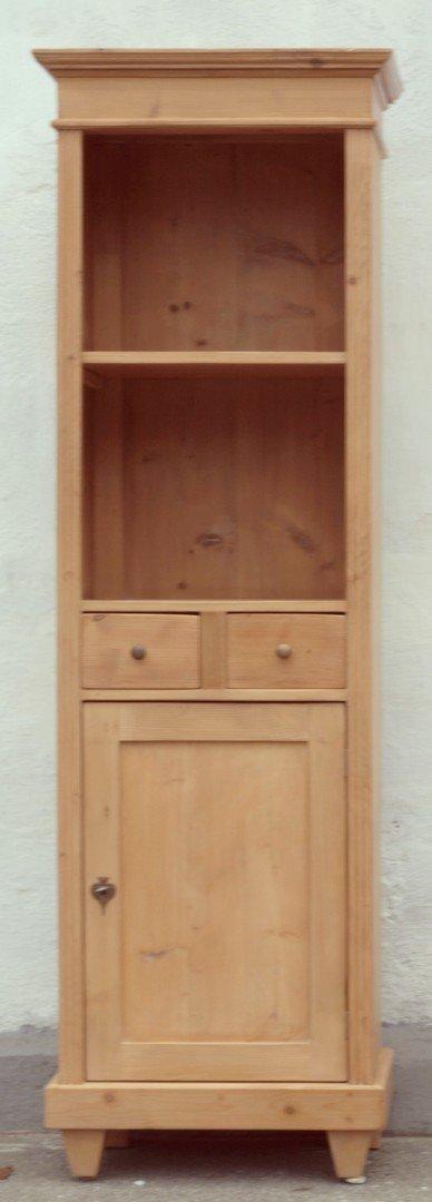 schmales bauernregal b cherregal mit 2 schubladen und 1 t re nachbau neuanfertigung antik. Black Bedroom Furniture Sets. Home Design Ideas