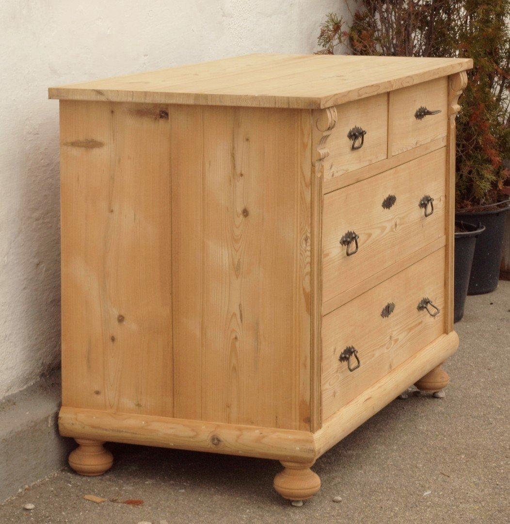 alte antike restaurierte bauernkommode in fichte. Black Bedroom Furniture Sets. Home Design Ideas